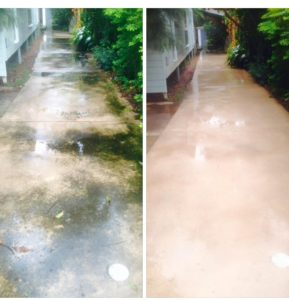 Path pressure cleaning